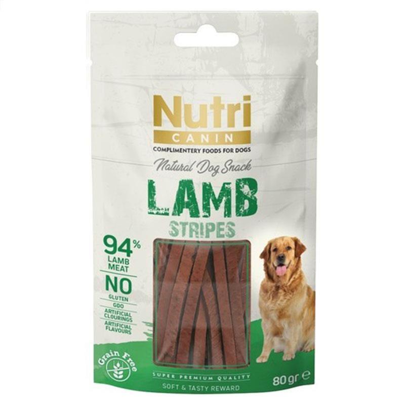 Nutri Canin Lamb Stripes Snack Köpek Ödülü 80 Gr