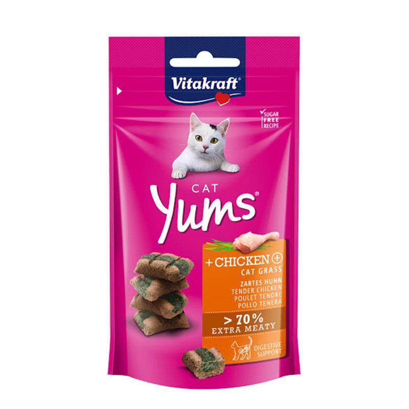 Vitakraft Cat Yums Kedi Otlu Tavuklu Kedi Ödülü 40 Gr