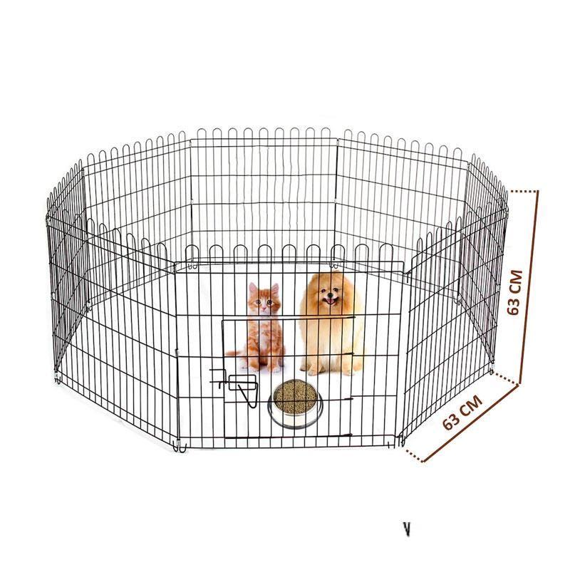 Best Cage Metal Köpek Çiti 8 Panel 63X63 Cm