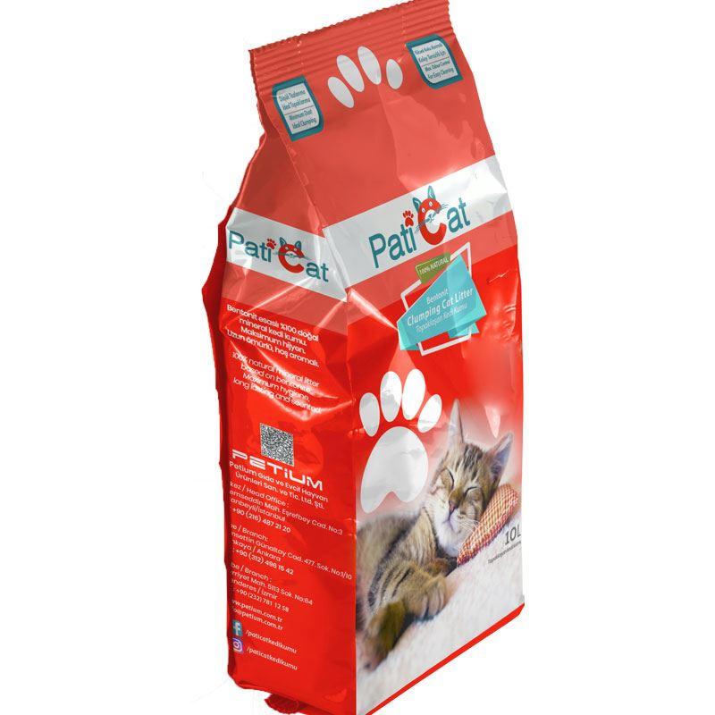 PatiCat Natural Parfümsüz Doğal Kalın Kedi Kumu 10 Lt
