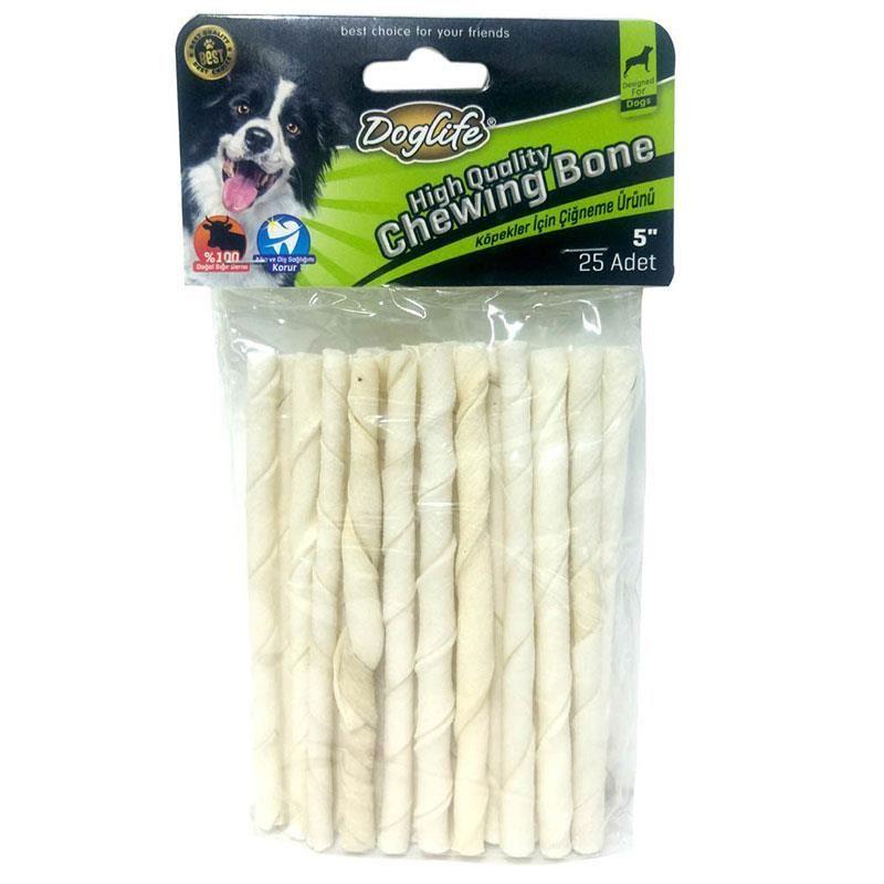 Doglife Burgu Çubuk Kemik White 5-6 gr 25 li