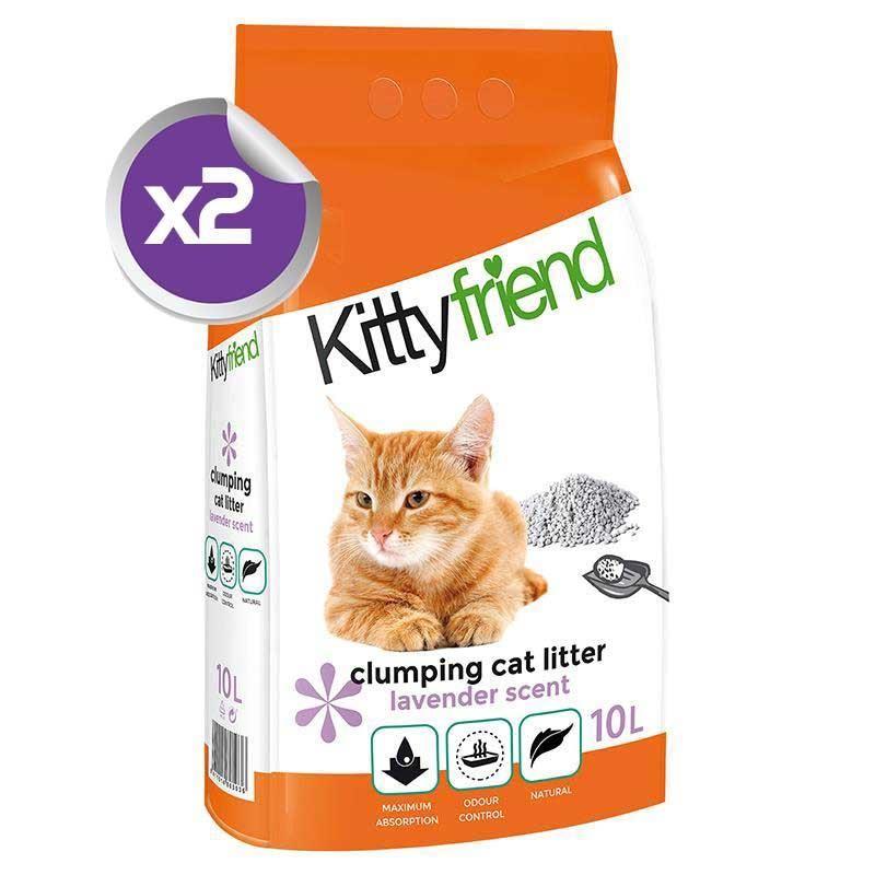 Sanicat Kitty Friend Lavanta Aromalı Topaklanan Kedi Kumu 10 Lt x2