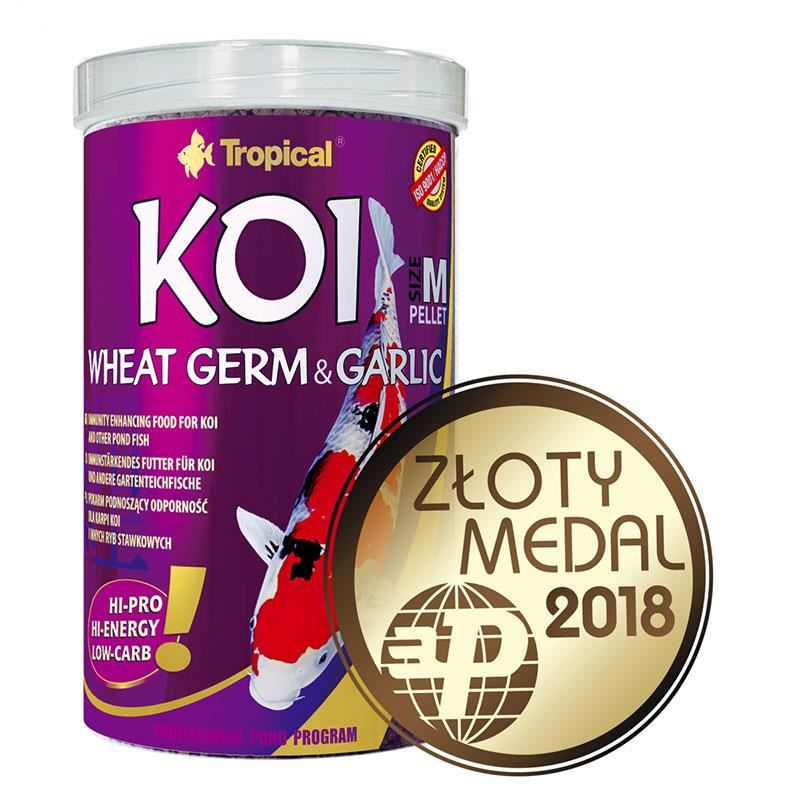 Tropical Koi Wheat Germ ve Garlic Pellet Size M 1000 ml 320 gr