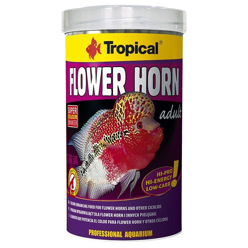 Tropical Flower Horn Adult Pellet 1000 ml