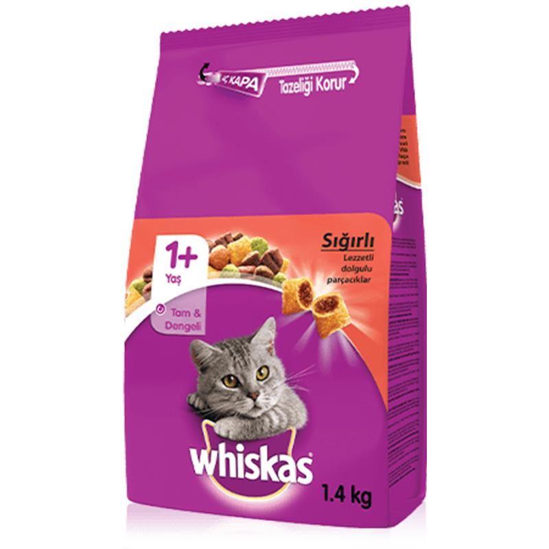 Whiska Biftekli ve Havuçlu Yetişkin Kedi Maması 1,4 Kg