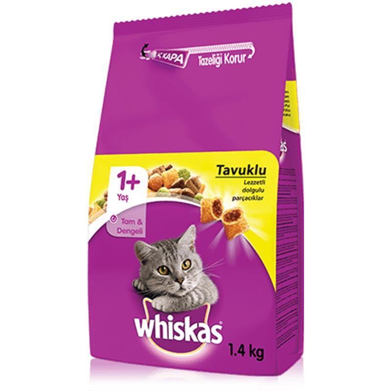 Whiskas Tavuk Etli ve Sebzeli Yetişkin Kedi Maması 1,4 Kg