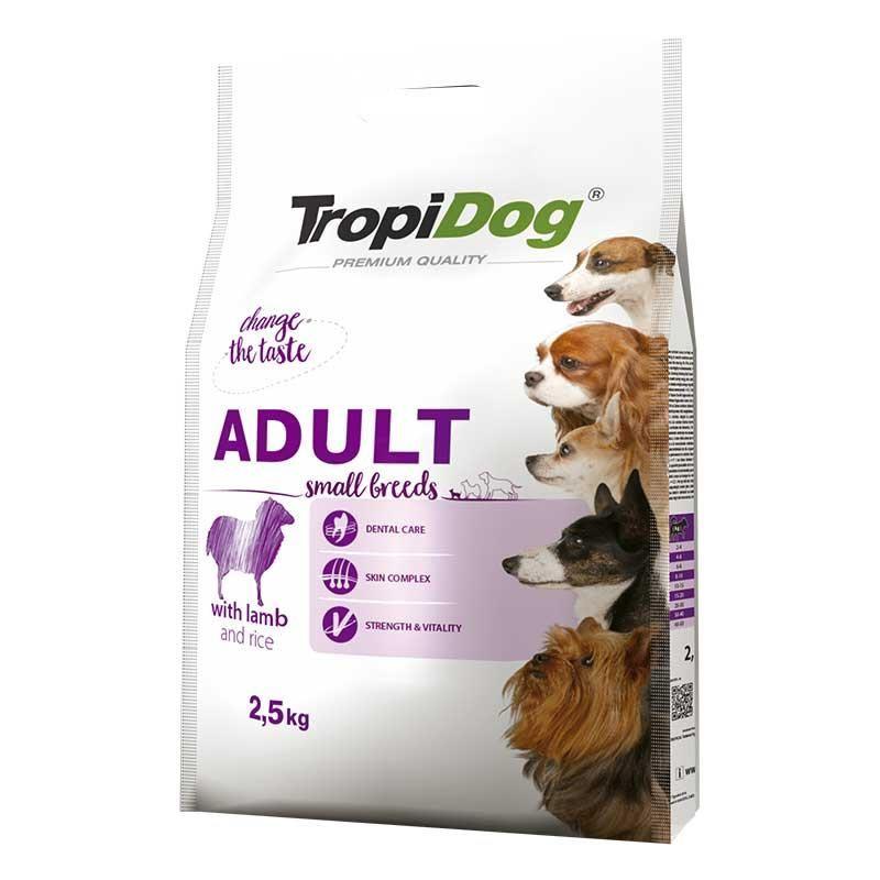 TropiDog Small Kuzu Etli Küçük Irk Yetişkin Köpek Maması 2,5kg