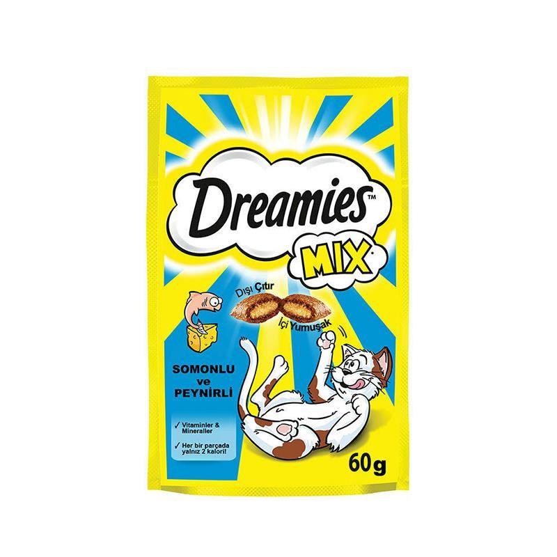 Dreamis Mix Somonlu Ve Peynirli Kedi Ödülü 60 Gr