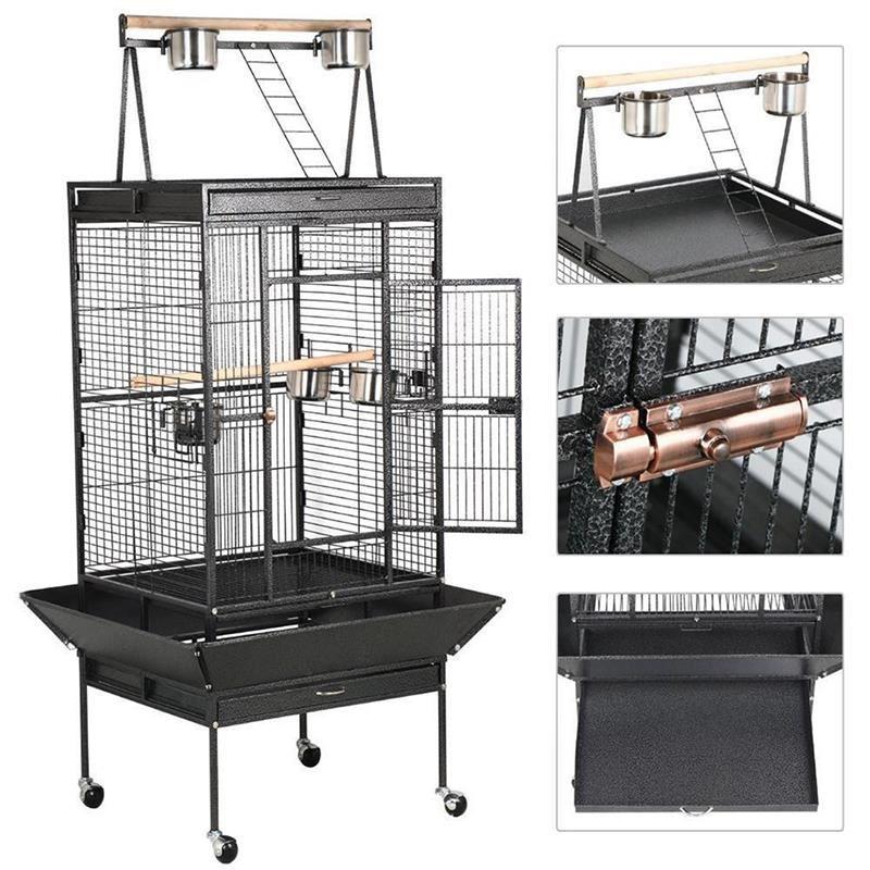 Dayang A18S Papağan Kafesi Ayaklı 61x56x168 Cm Siyah