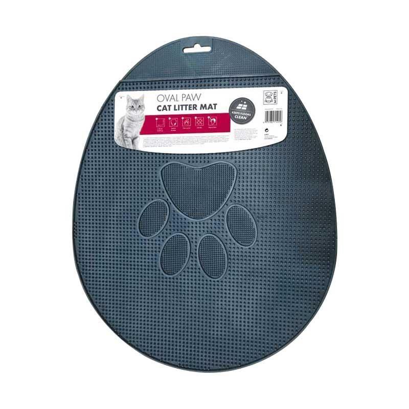 M-Pets Oval Pati Şekilli Tuvalet Önü Paspası Gri