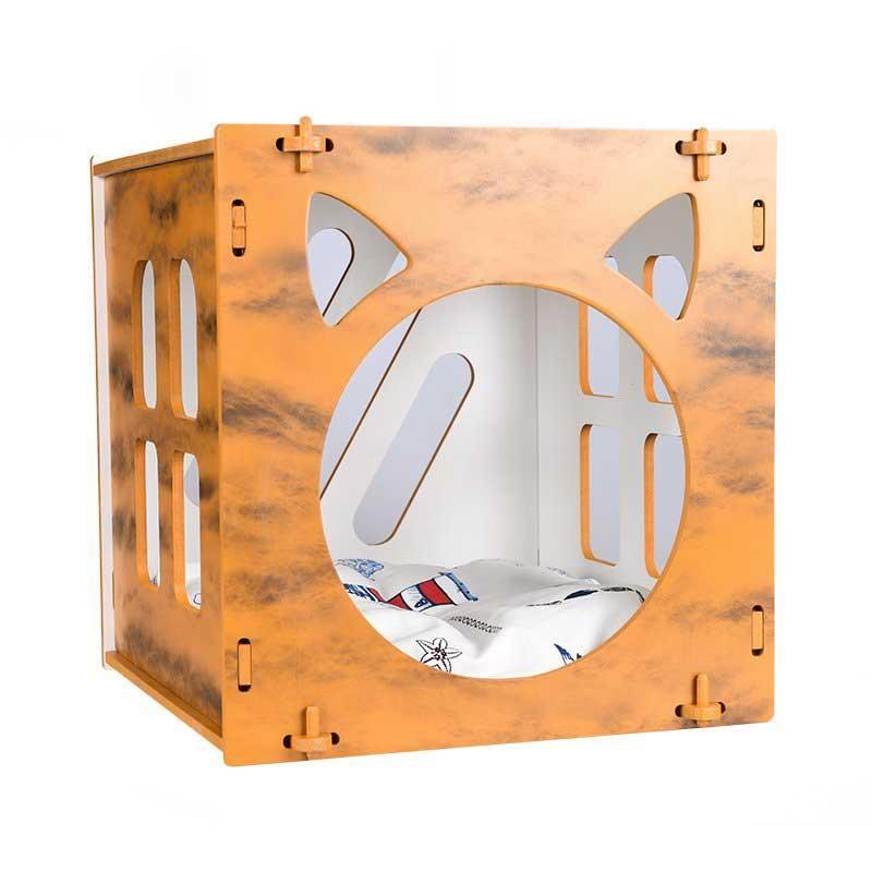 Lepus Cube Kedi ve Küçük Köpekler İçin Yuva Hardal