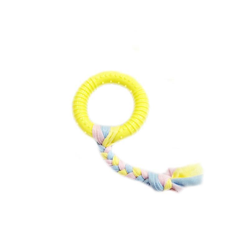 EuroDog Puppy Toys Halka Diş Kaşıma Yavru Köpek Oyuncağı Sarı 19 Cm