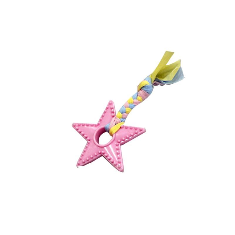 EuroDog Puppy Yıldız Diş Kaşıma Köpek Oyuncağı Pembe 18 Cm