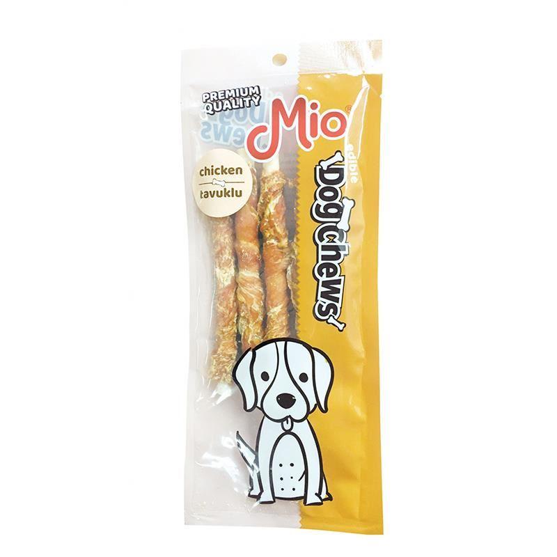 Mio Tavuklu Burgu Çubuk Köpek Çiğneme Kemiği 12cm x5 12gr