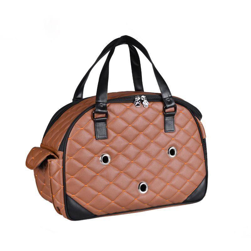 Lepus Luxury Bag Kedi Köpek Taşıma Çantası Medium Taba