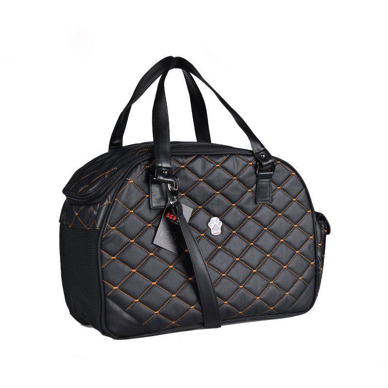 Lepus Luxury Bag Kedi Köpek Taşıma Çantası Medium Siyah