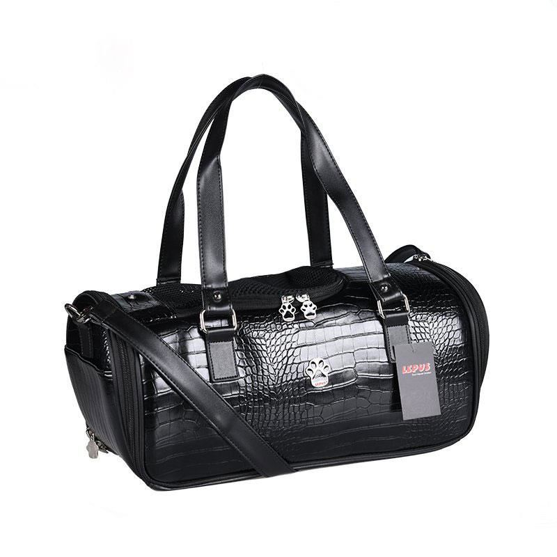 Lepus Duffle Bag Kedi Köpek Taşıma Çantası Siyah