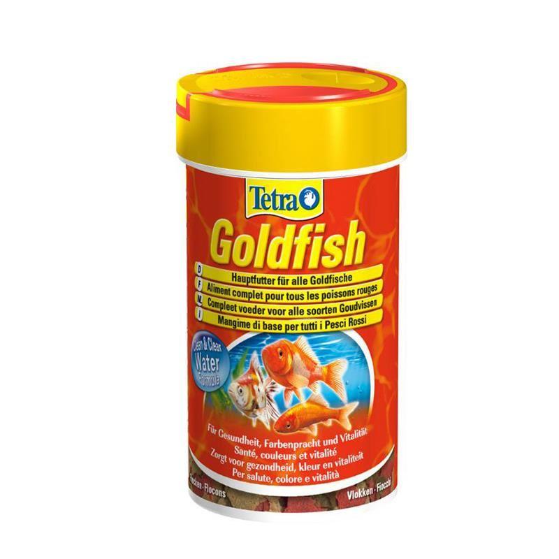 Tetra GoldFish Japon Balıkları için Pul Balık Yemi 20 Gr 100 Ml