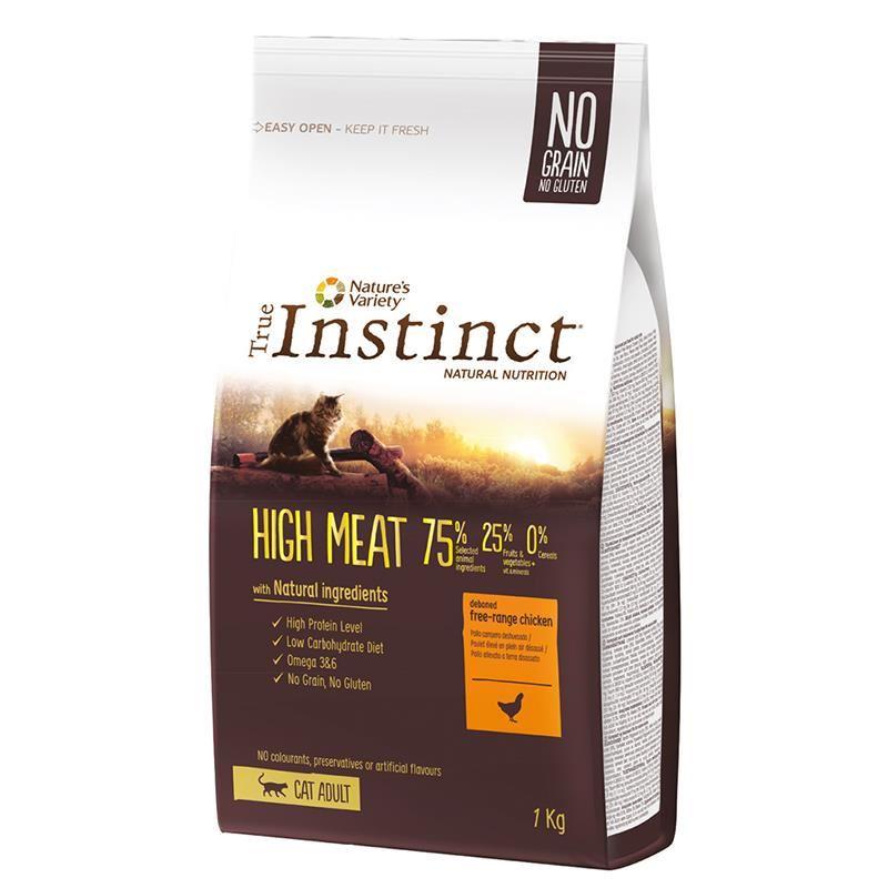 Instinct High Meat Yüksek Etli Tavuklu Tahılsız Yetişkin Kedi Maması 1 Kg
