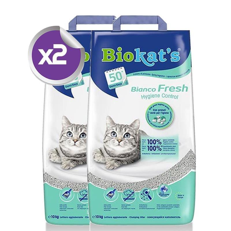 Biokats Bianco Fresh Kedi Kumu 10Lt x2