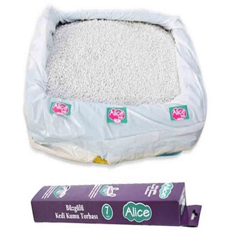Alice Büzgülü Kedi Tuvalet Kabı Poşeti 7 Adet