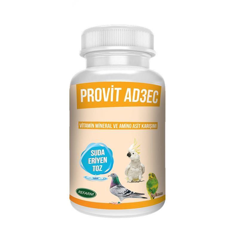 Provit AD3EC Suda Eriyen Kuş Vitamin Tozu 100 Gr