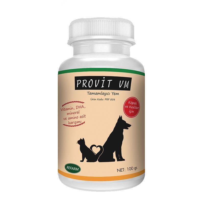 Provit VM Kedi ve Köpek Multivitamin Tamamlayıcı Yem 100 Gr