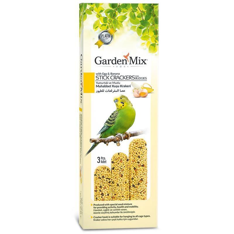 Gardenmix Platin Muzlu Yumurtalı Kuş Krakeri 3lü