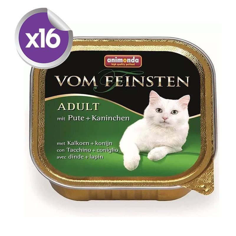 Animonda Hindi ve Tavşanlı Kedi Konservesi 100 Gr x16