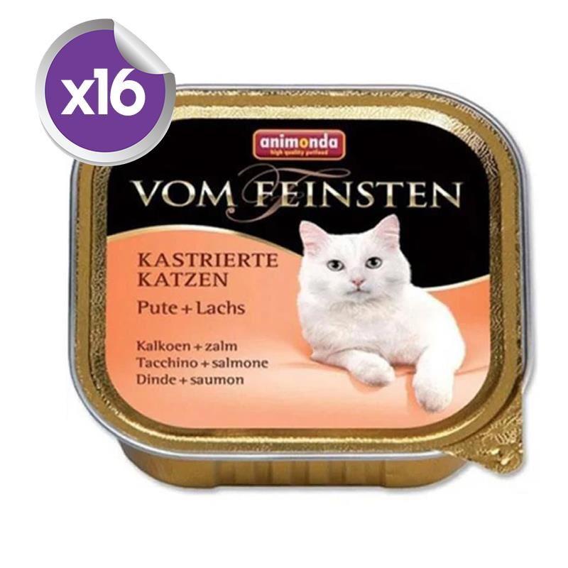 Animonda Hindi Somonlu Kısırlaştırılmış Kedi Konservesi 100 Gr x16