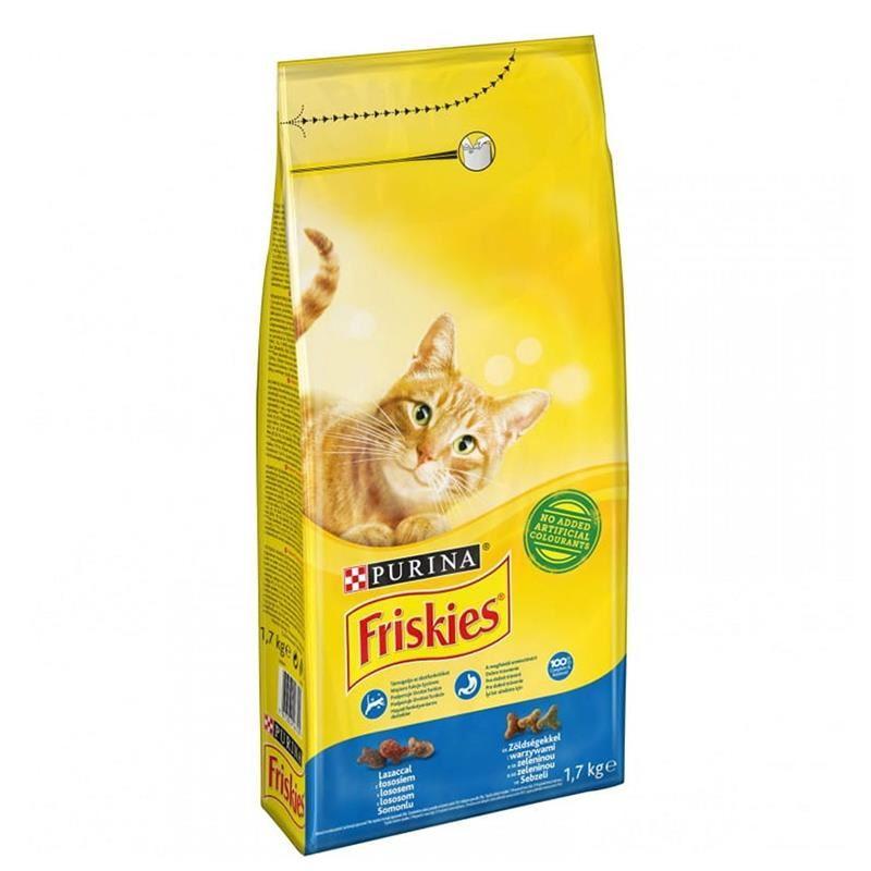 Friskies Somonlu ve Sebzeli Yetişkin Kedi Maması 1.7 Kg