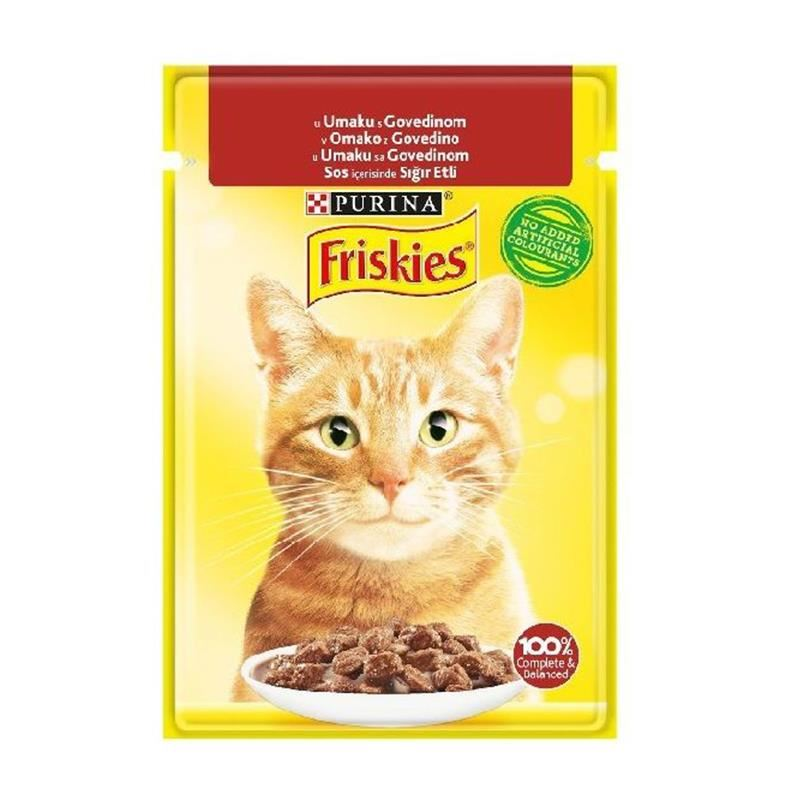Friskies Pouch Sığır Etli Yetişkin Kedi Konservesi 85 Gr