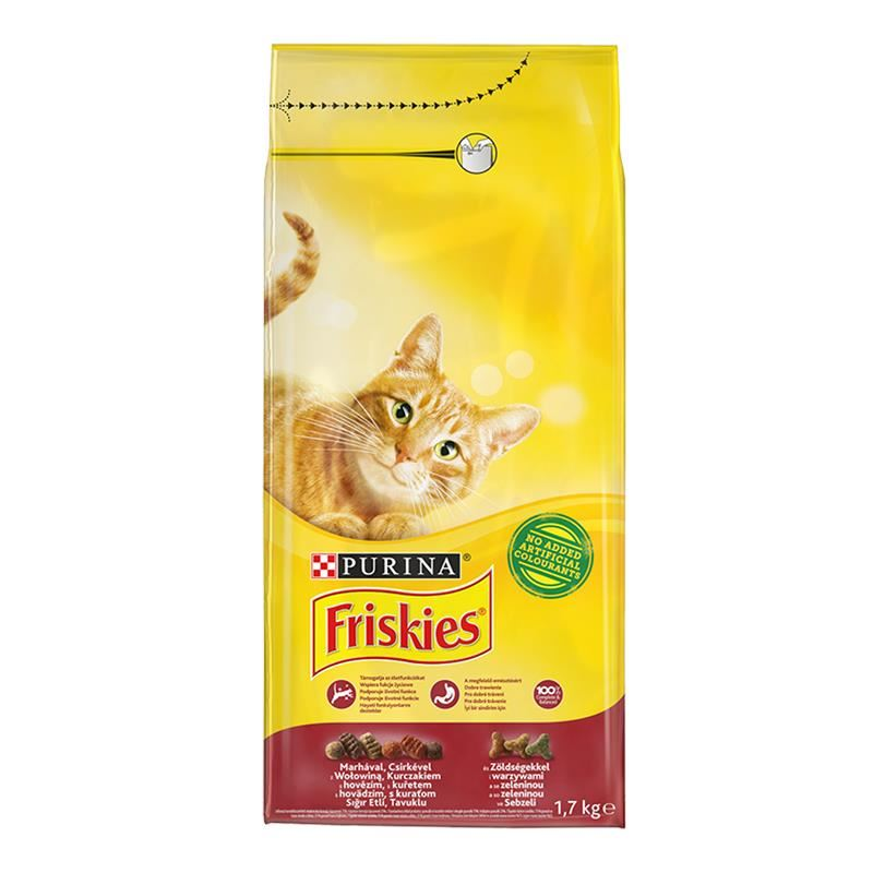 Friskies Etli Tavuklu Ve Sebzeli Yetişkin Kedi Maması 1.7 Kg