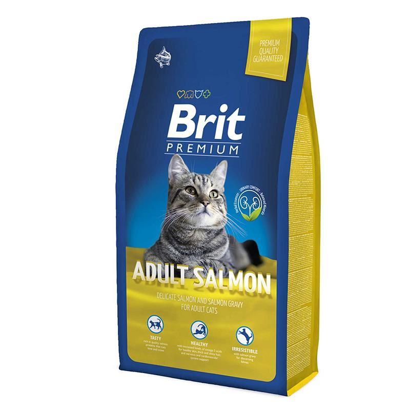 Brit Premium Somonlu Yetişkin Kedi Maması 8 Kg