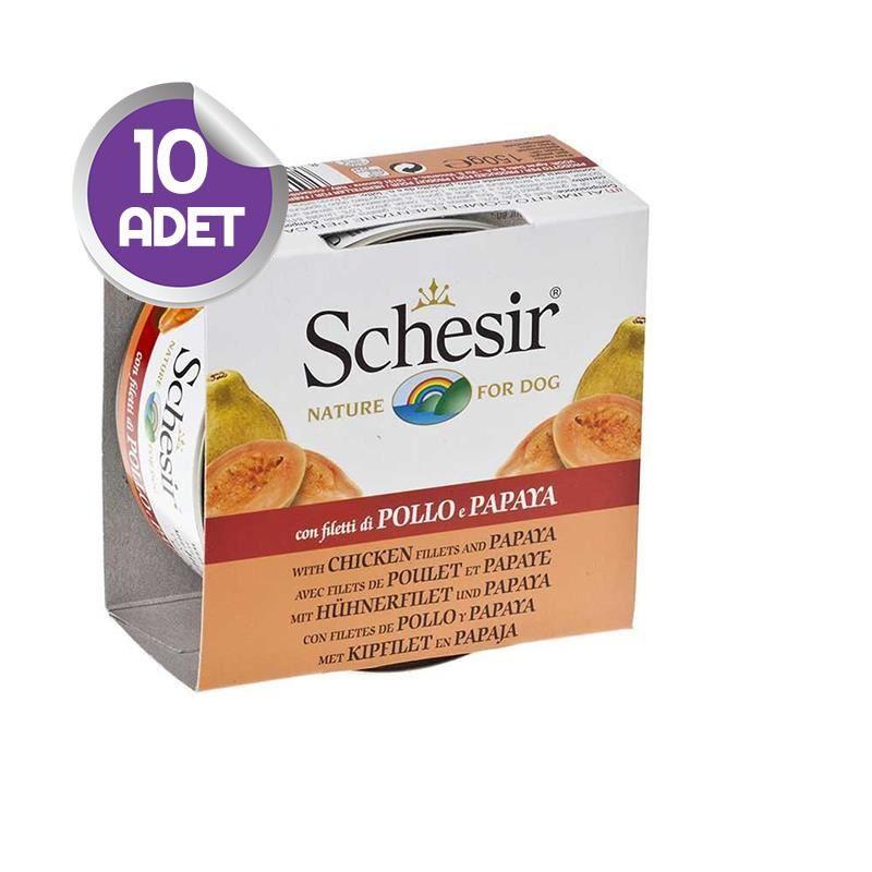 Schesir Fruit Tavuk ve Papayalı Köpek Konservesi 150 gr x10