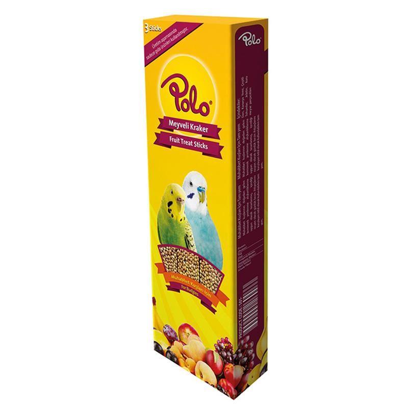 Polo Meyveli Muhabbet Kuşu Krakeri 3 lü Paket 95 Gr