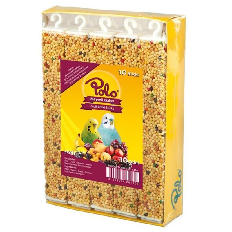 Polo Meyveli Muhabbet Kuşu Krakeri 10 lu Paket 315 Gr