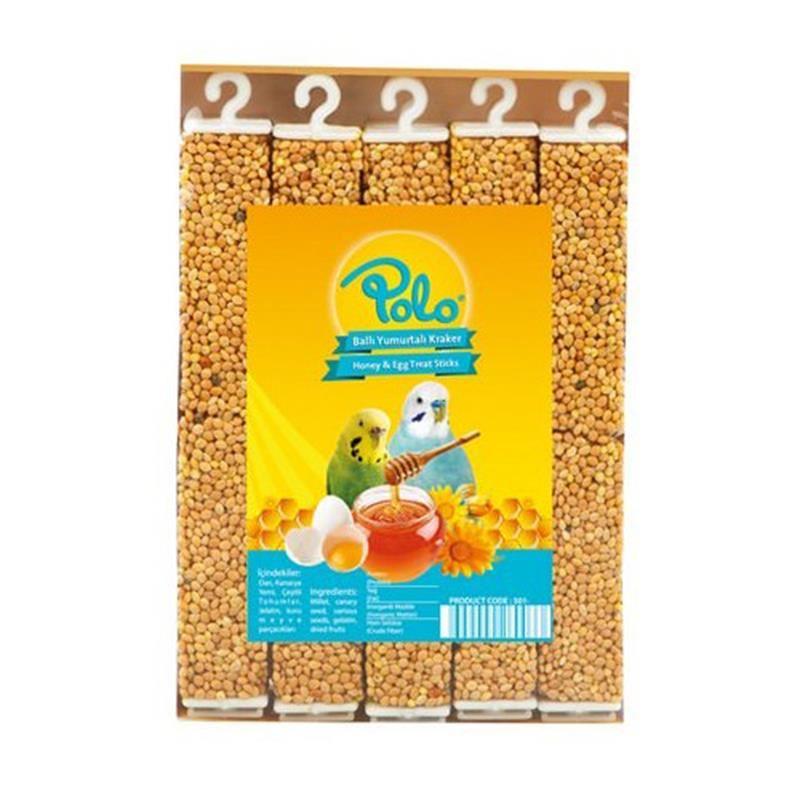 Polo Ballı Yumurtalı Muhabbet Kuşu Krakeri 10 lu Paket 315 Gr