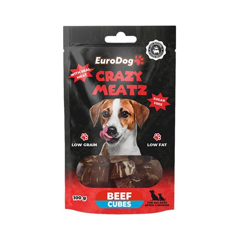 EuroDog Beef Cubes Köpek Ödülü 100 Gr