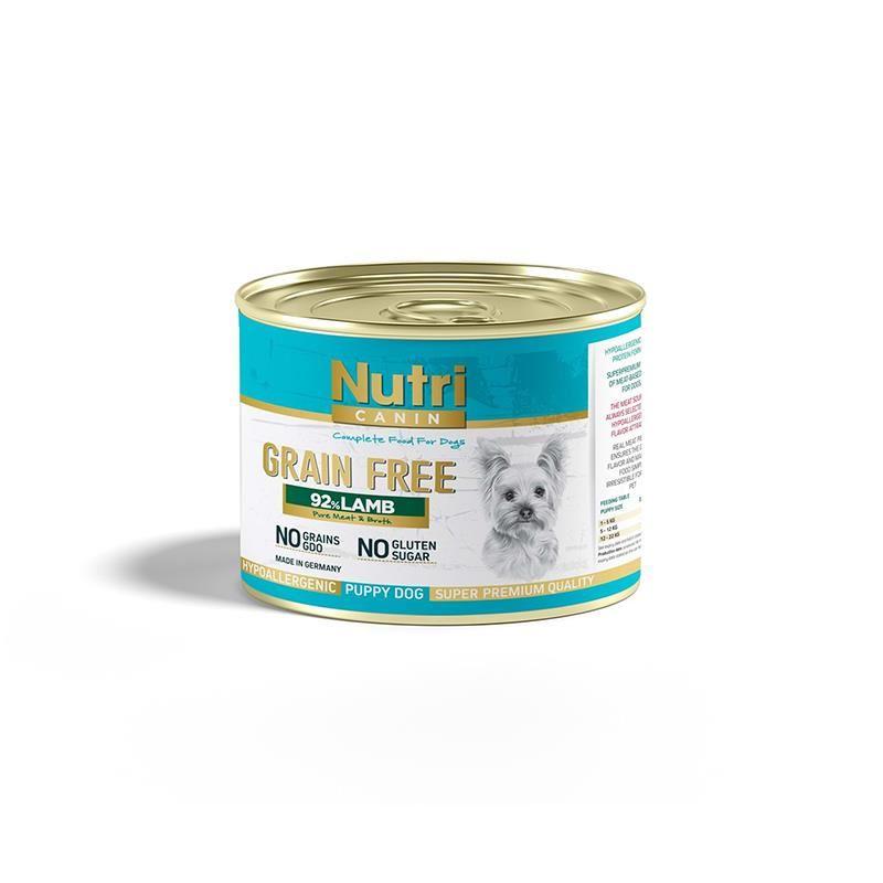 Nutri Canin Kuzu Etli Tahılsız Yavru Köpek Konservesi 200 Gr