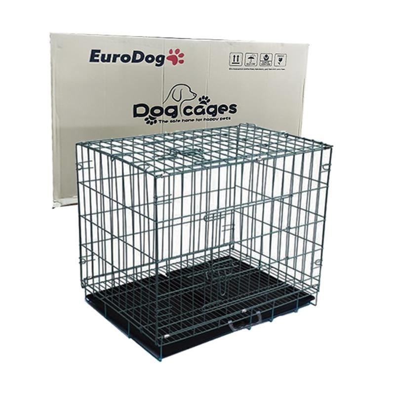 EuroDog Köpek Kafesi Siyah Dövme 107x70x77 Cm