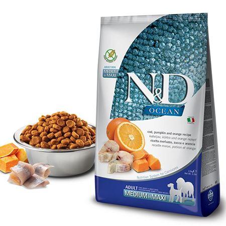 ND Balkabaklı Morina Balıklı Medium Maxi Tahılsız Köpek Maması 2.5 Kg