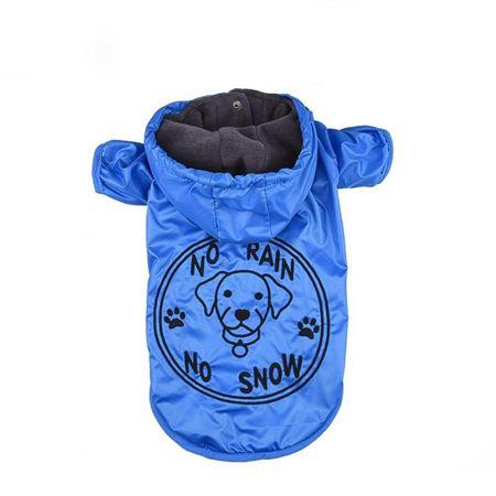 Lepus Küçük Irk Köpek Yağmurluk Mont Mavi Large