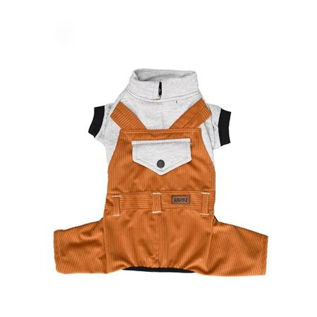 Lepus Küçük Irk Köpek Bahçıvan Tulum Elbise Hardal Large