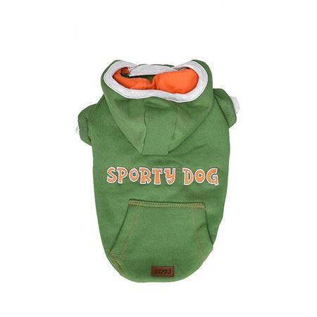Lepus Küçük Irk Köpek Kapşonlu Sweet Elbise Yeşil Small