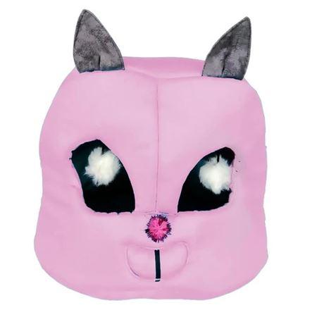 Kedi Kafası Şekilli Kedi Yatağı 45x50x50 Cm Pembe