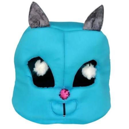 Kedi Kafası Şekilli Kedi Yatağı 45x50x50 Cm Turkuaz