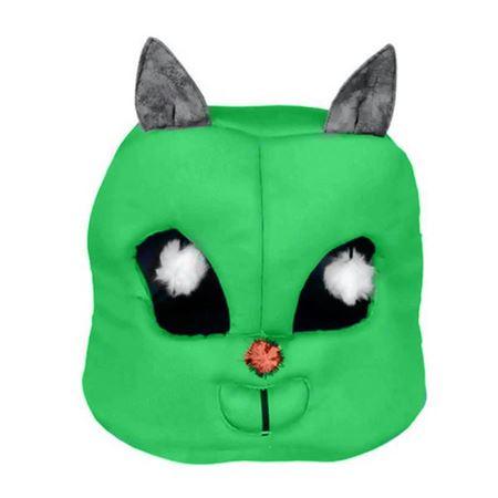 Kedi Kafası Şekilli Kedi Yatağı 45x50x50 Cm Yeşil