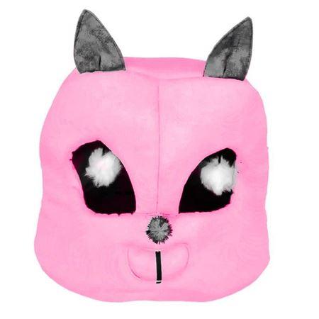 Kedi Kafası Şekilli Kedi Yatağı 45x50x50 Cm Fuşya
