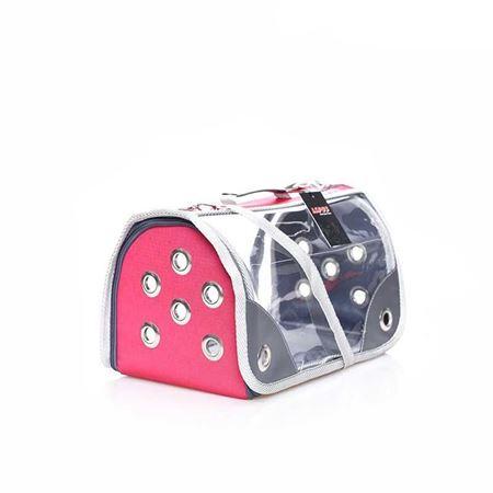 Lepus Şeffaf Fly Bag Kedi Köpek Taşıma Çantası Pembe Medium
